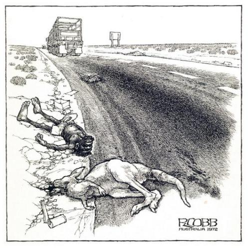 """""""Road Kill"""" by Ron Cobb"""