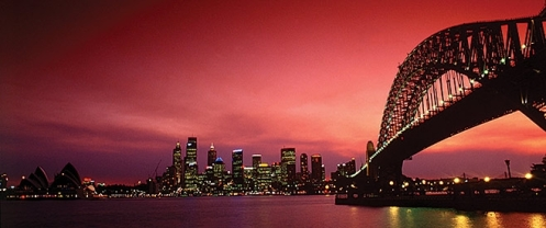 Sydney Harbour at night from Milsons Point